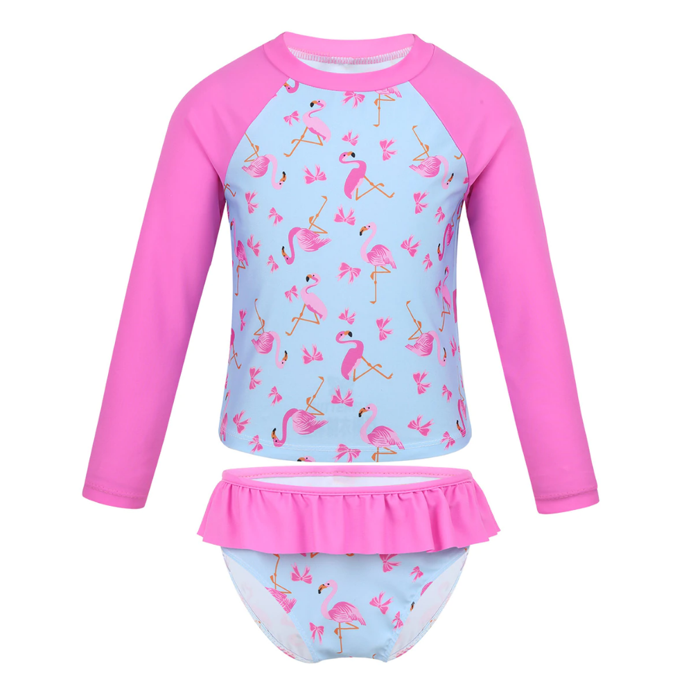 Girl Rash Guard Shirt Swimsuit Baby UPF 50 Bathing Swimming Tankini Beachwear