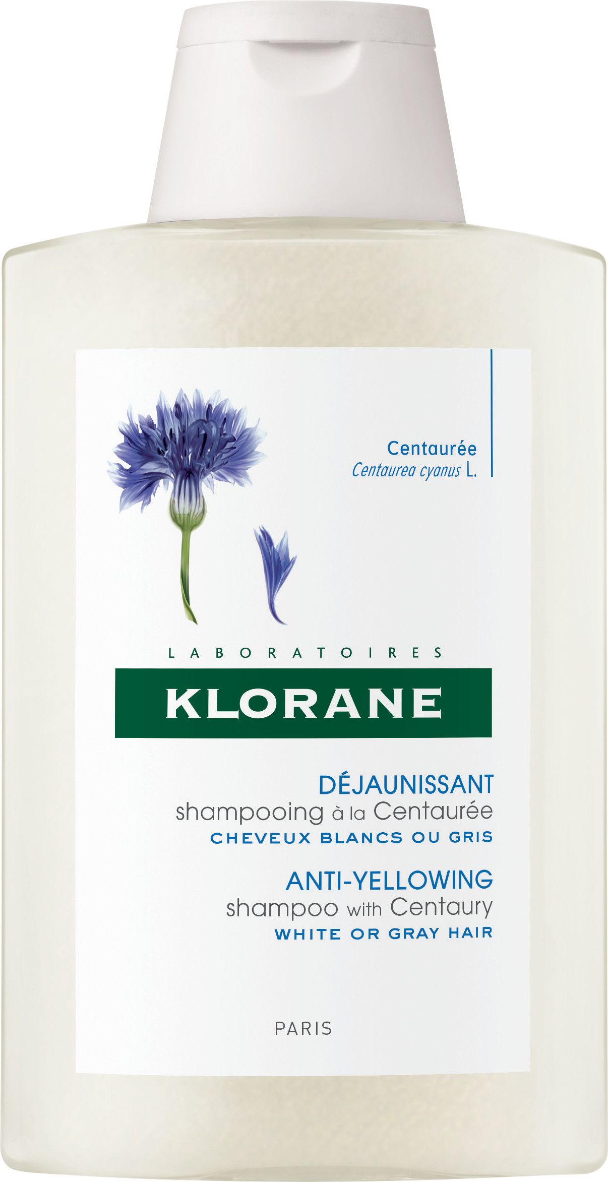 Klorane Anti Yellowing Shampoo With Centaury Extract For White Grey Hair 200ml Shampoo Grey Hair Grey White Hair