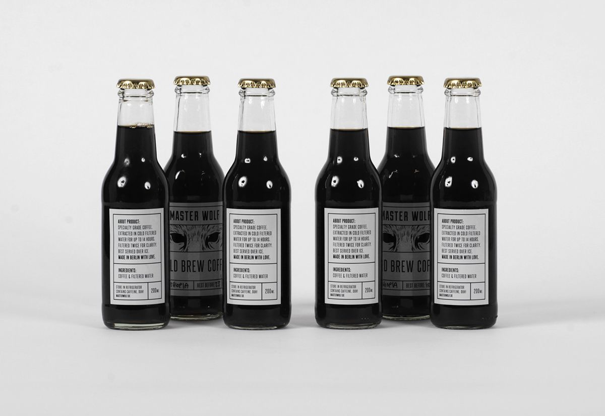 Master Wolf Cold Brew Coffee on Packaging Design Served