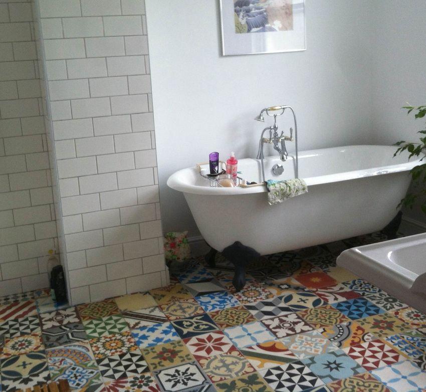 encaustic tiles patchwork bathroom marocco tiles pinterest badezimmer k che und h uschen. Black Bedroom Furniture Sets. Home Design Ideas