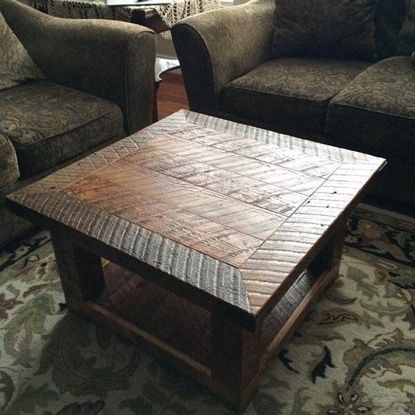 Old Seattle Reclaimed Wood Square Coffee Table. Check The Back Story! By  UrbanSalvageWorks On