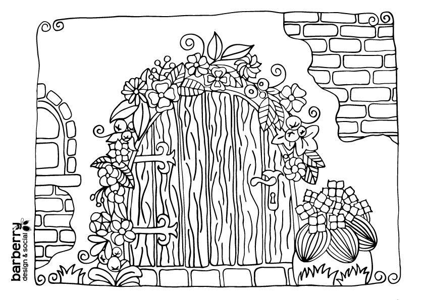 Kobold Haz Szinezo Felnotteknek Fairy Door Coloring Page For