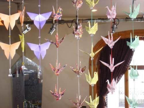 Origami Colgantes Y Móviles. Ideales Para Decoración.