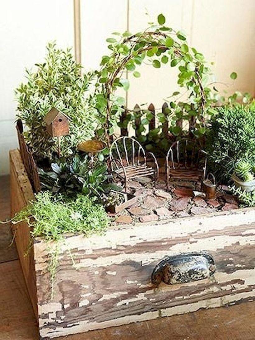 Awesome 56 Adorable DIY Fairy Gardens Ideas