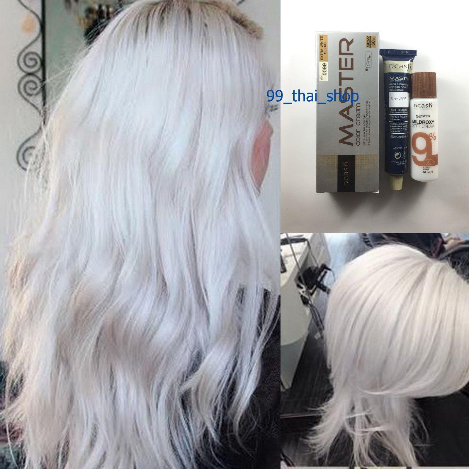 7 99 Dcash Master Permanent Hair Dye Wh0099 Extra White White Color Super Hair Dye Ebay Fashion Permanent Hair Dye White Hair Color Bleach Blonde Hair