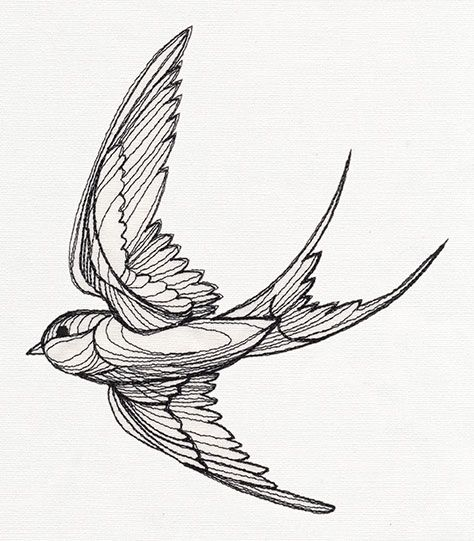 Engraved Swallow Bird Design Tattoo Tattoo Sleeve Designs Sleeve Tattoos