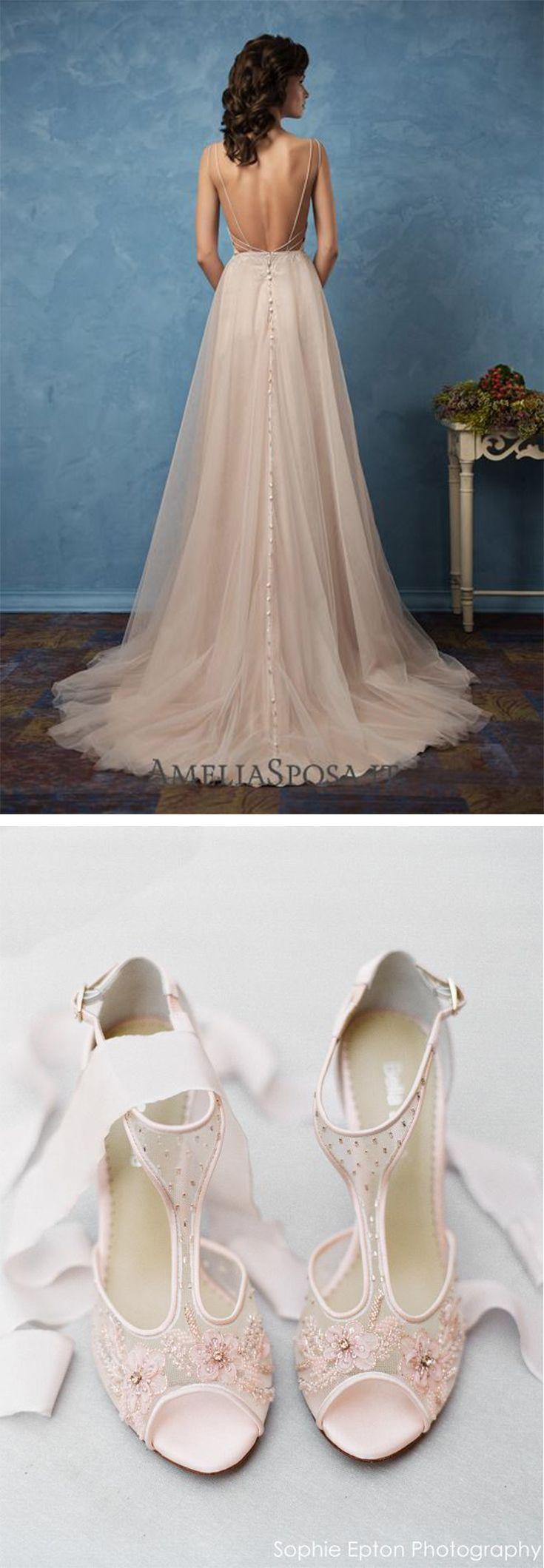 Tstrap beaded wedding shoes paloma blush in wedding dress