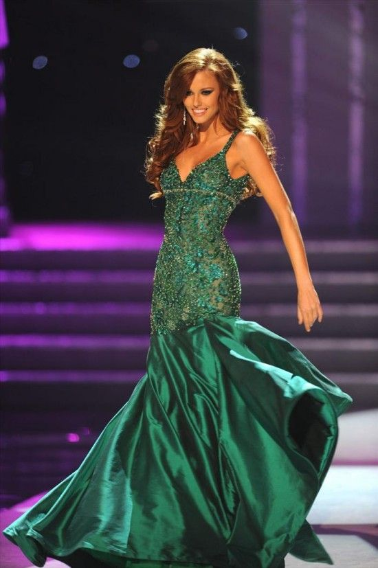 Emerald Pageant Dresses