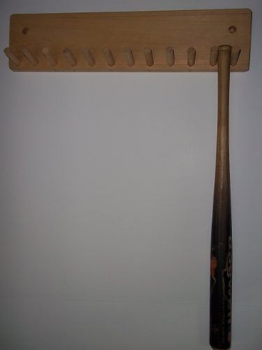 Wood Baseball Mini Bat Rack Holder Up To 11 Collectible Bats Natural Finish