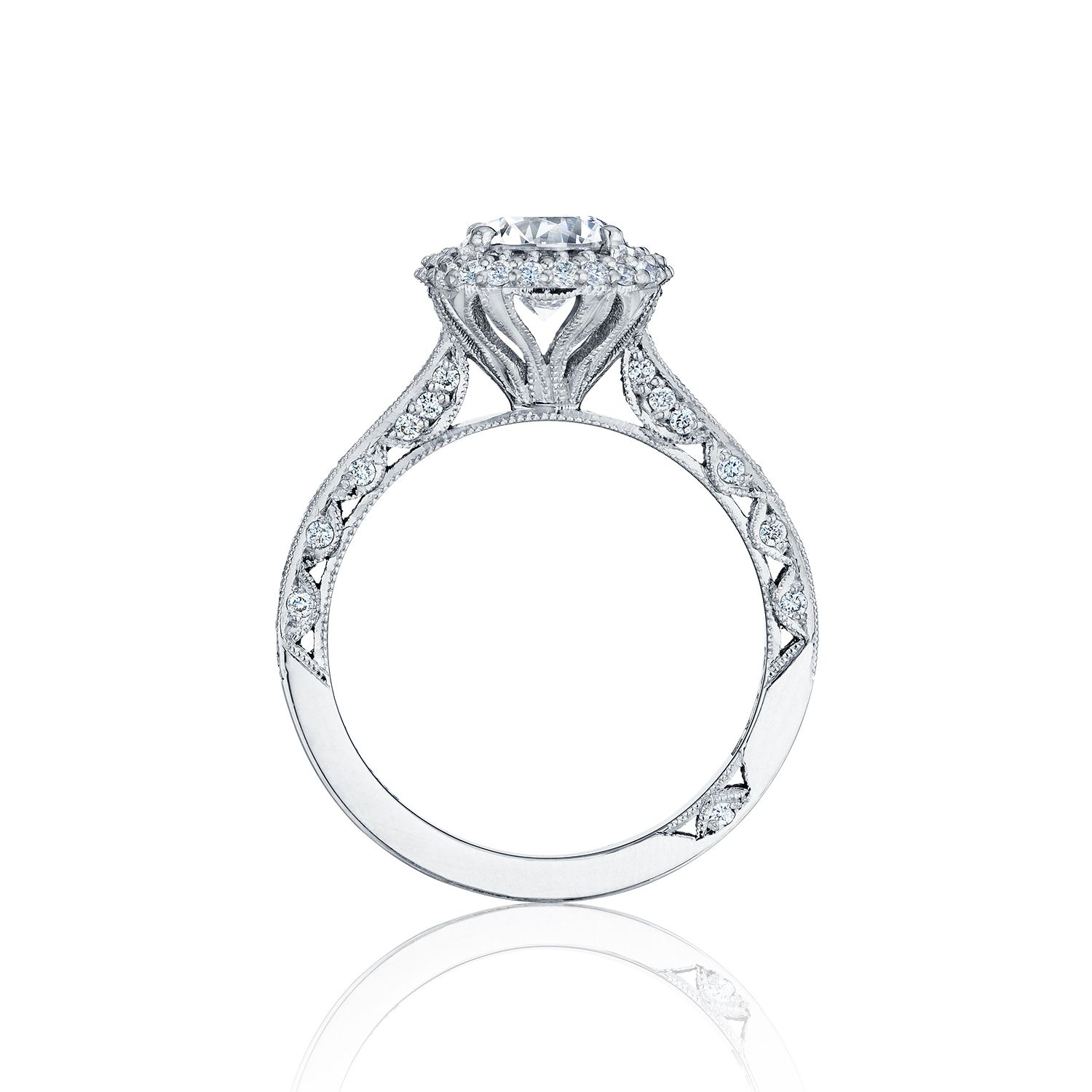 ring in band diamond tw ritani open settings setting engagement white gold jewellery