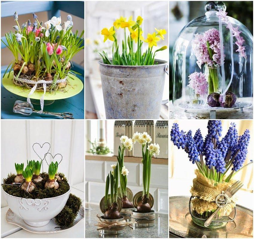 Diy Niebanalne Kompozycje Z Wiosennych Kwiatow Table Decorations Decor Home Decor
