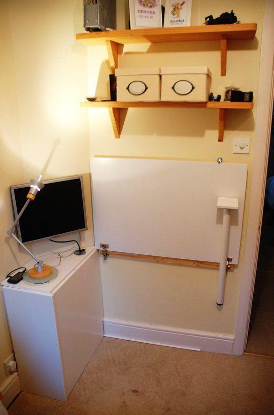 Simon S Diy Ikea Kitchen Cupboard Door Hideaway Desk Fold Away