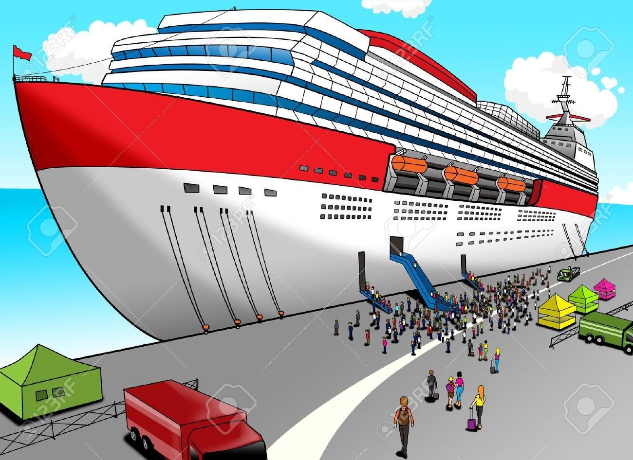 13462474-Cartoon-illustration-of-a-cruise-ship-Stock-Illustration.jpg (1300u00d7946) | Cartoons Two ...