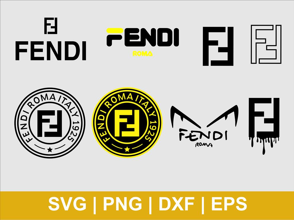 Fendi Logo Svg Bundle Vectorency Fendi Logo Silhouette Fashion Logo Branding