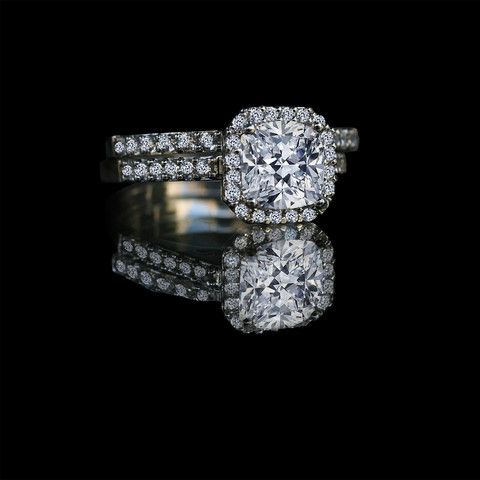1 50 Ct Center Halo Settings Engagement Set 635r71926 Simulated Diamond W Simulated Diamond Rings Engagement Diamond Wedding Rings Sets Diamond Wedding Bands
