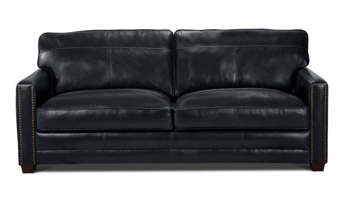 3 Sitzer Sofa Caine Leder Schwarz Living Pinterest Wohnen