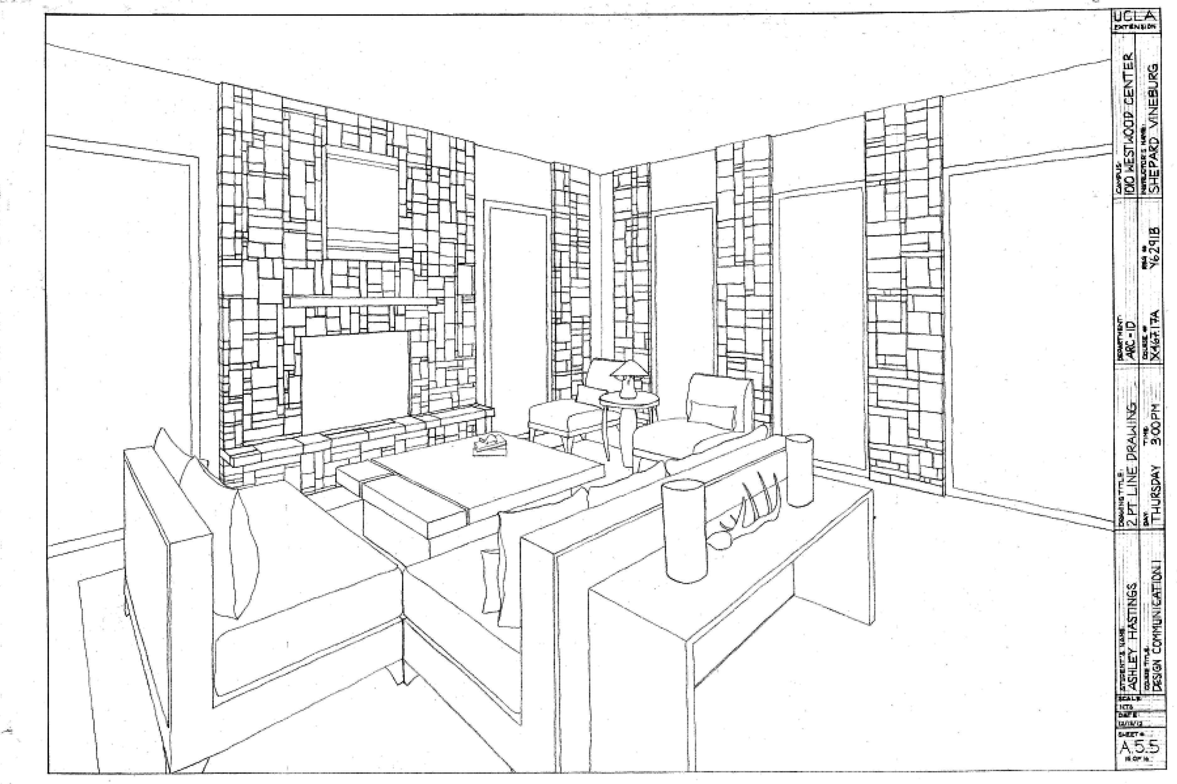 One Point Perspective Floor Plan With Images Perspective