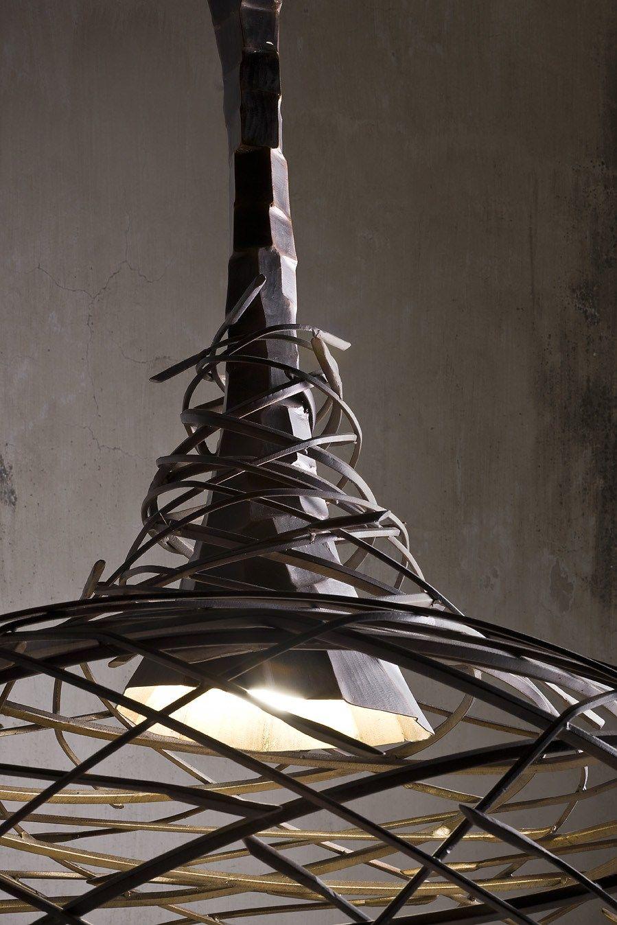 Iron pendant lamp NEST by @elitetobe