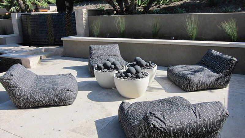 Comfortable Grey Outdoor Patio Bean Bag Chairs Design Patterns