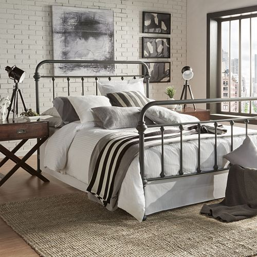Homevance Alaina Bed King Metal Bed Queen Bed Frame Full Bed Frame