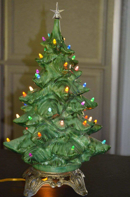 Ceramic Lit Christmas Tree California Mold By