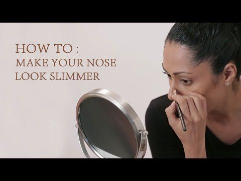 how to make nose look slimmer