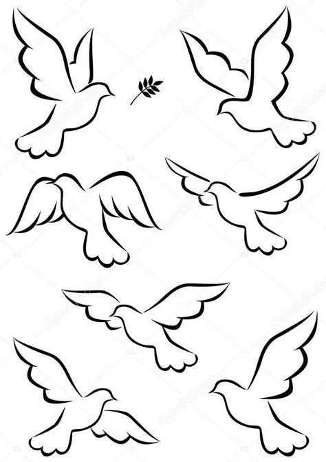 Indir Guvercin Ucus Stok Illustrasyon 7684316 Cizim Kus