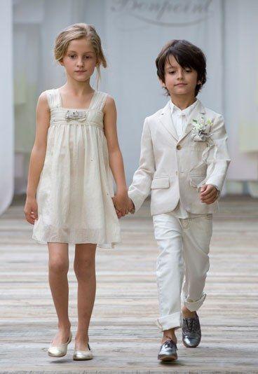 IKKS Baby-M/ädchen Robe Blanche Ceremonie Kleid