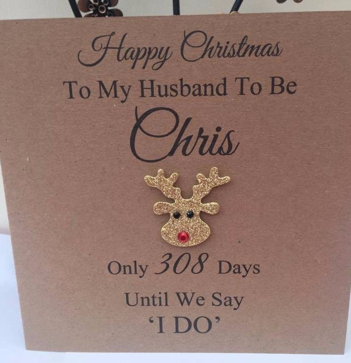 PERSONALISED CHRISTMAS CARD HUSBAND WIFE HUSBAND
