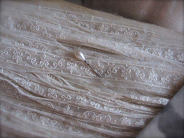 Edwardian dress making lace