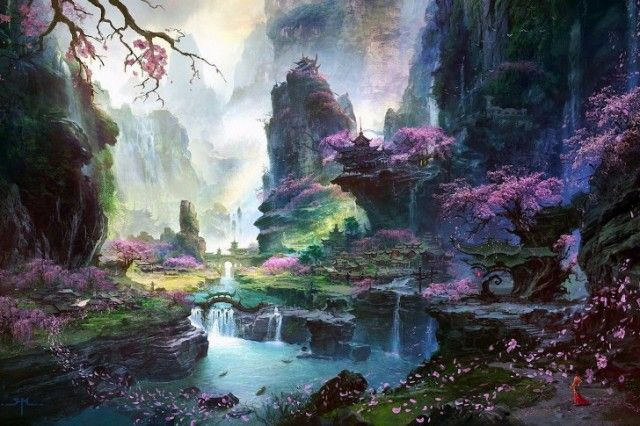 20 Beautiful Nature Painting Wallpapers Fantasy Art Landscapes Fantasy Paintings Fantasy Landscape