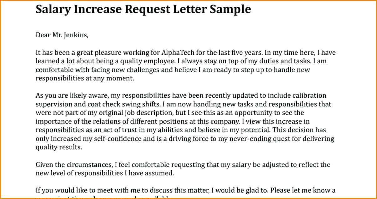 Image Result For Salary Increment Letter Format For Employee