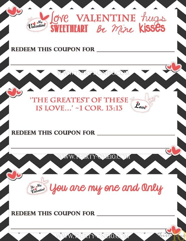 Manly Love Coupons From ThirtyOne  Holidays  ValentineS Day