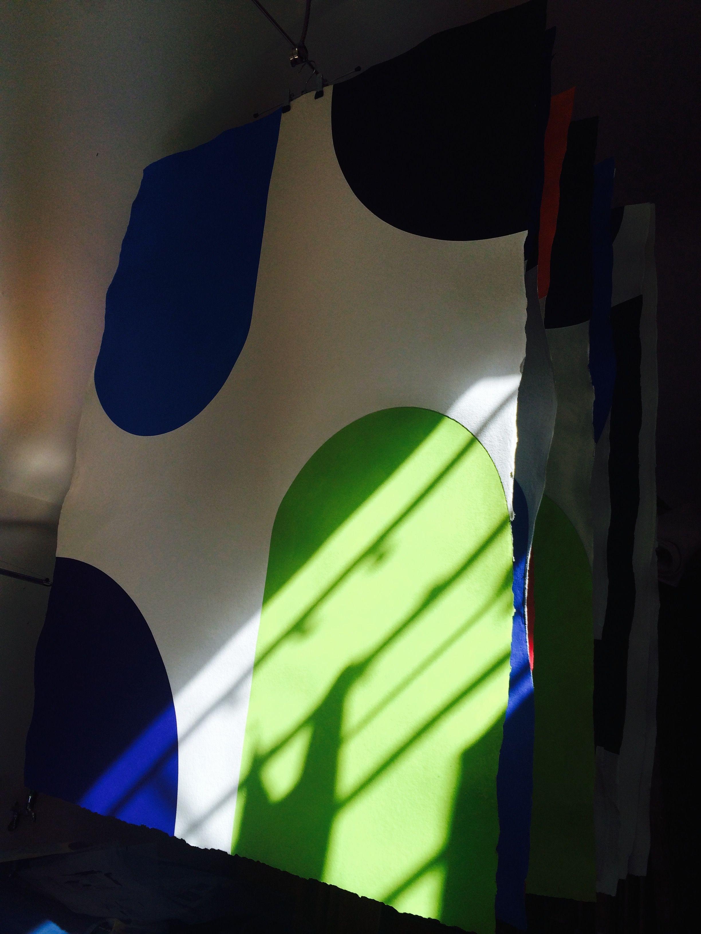 Shadows on a Richard Gorman KAN print. 2015, Carborundum on Indian Paper, Edition of 10.
