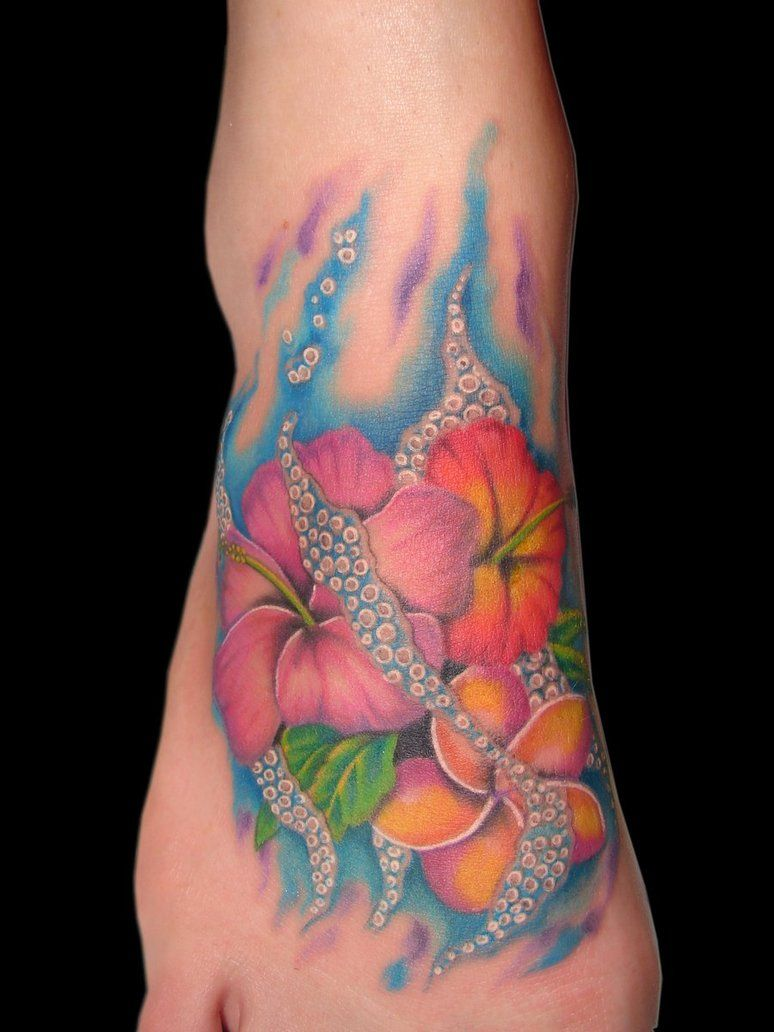 Flowerfoottattoosforgirls2011best Tattoos Pinterest