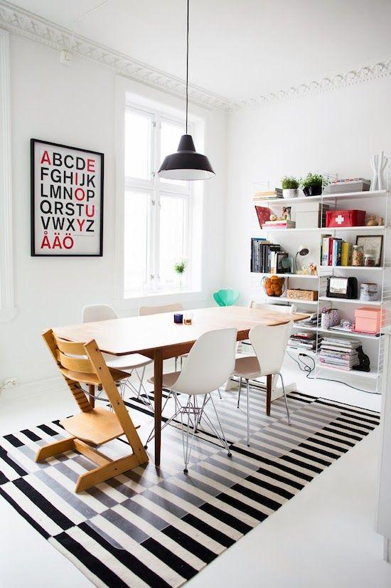 dining room ideas scandinavian design ikea stockholm black white stripe. beautiful ideas. Home Design Ideas