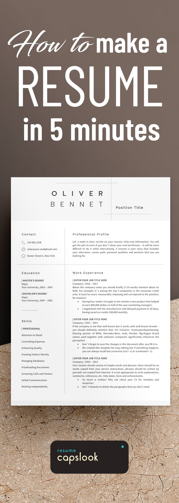 Professional resume template for legal paralegal lawyer