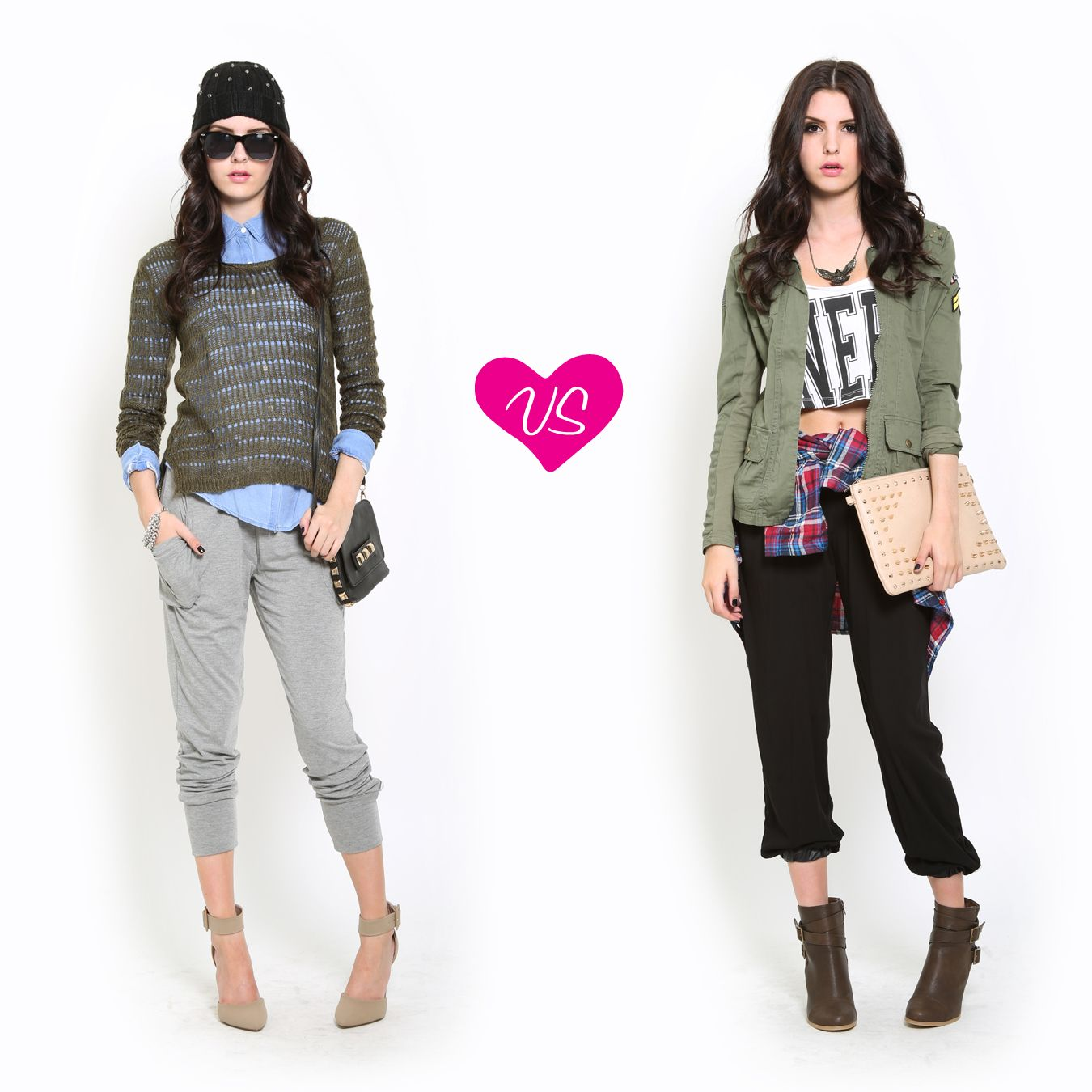 Street Style Outfit Vote Jogger Pant // Styles For Less | Jolie Joggers Ensembles | Pinterest ...