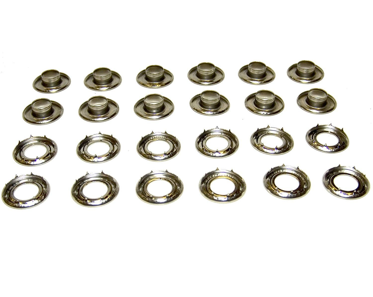 Grommets 4rolled Rim Spur Stainless Steel Heavy Duty 12 Piece Set Grommet Kits Amazon Canada Grommets Ear Grommets Setting Tools