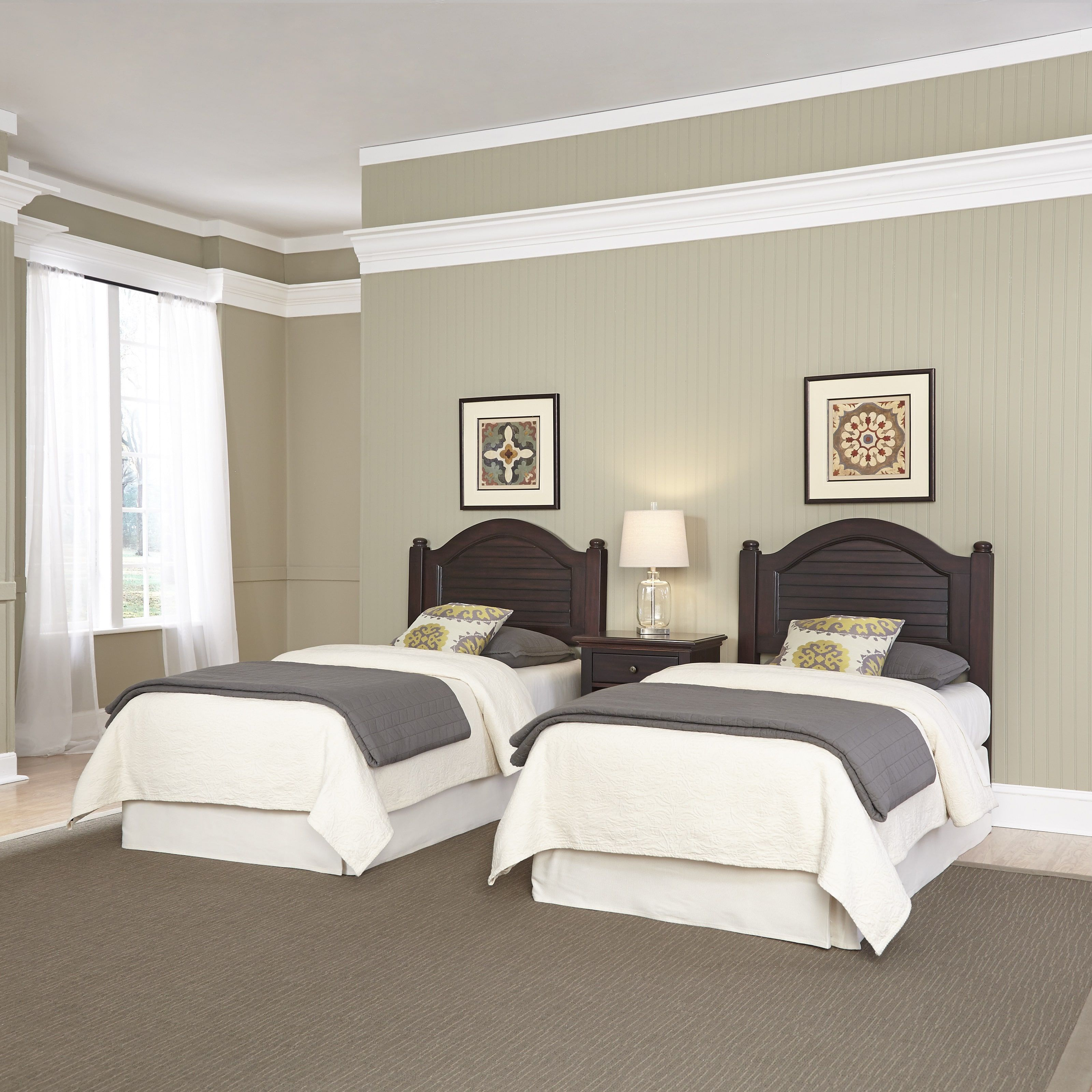 Bermuda Two Headboards And Night Stand By Home Styles