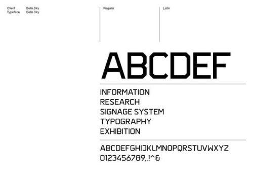 Stockholm Design Lab / Comwell / Bella Sky / Typeface / 2011