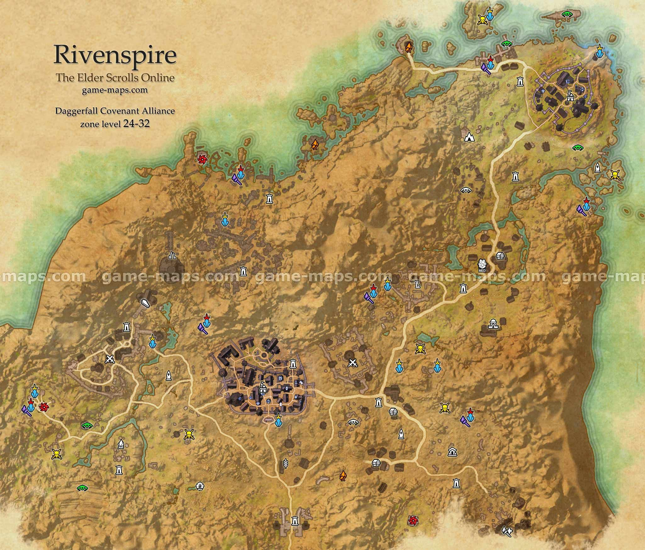 Rivenspire zone map Shornhelm North Point Rivenspire is a region in northe