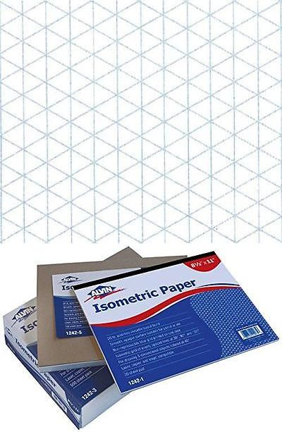 Other Art Supplies 16508 Alvin 1242-5 Isometric Paper 100-Sheet - free isometric paper
