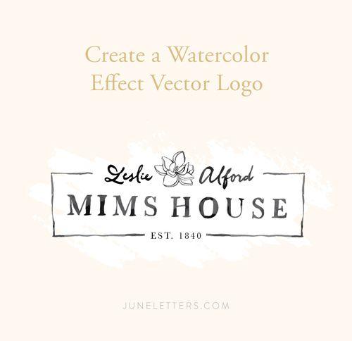 Tutorial Create A Watercolor Effect Vector Logo June Letters