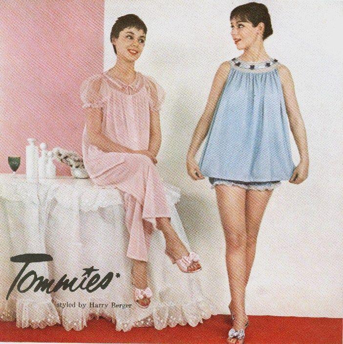 99f8d4744fa The sleepover jammies...Tommies Nightwear Ad - 1956 | I remember ...