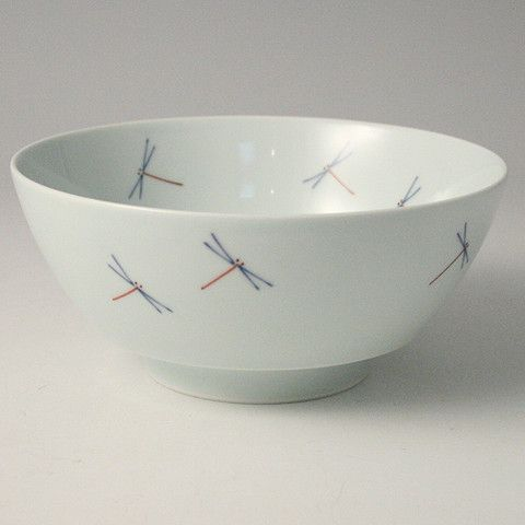 "Arita-yaki ""Dragonflies"" ramen bowl"