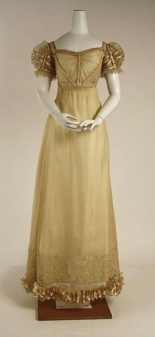 DateCa1820 CultureBritish 1800 Dress CultureBritish Dress MediumSilk~Clothing DateCa1820 Tl3Fc1KJ