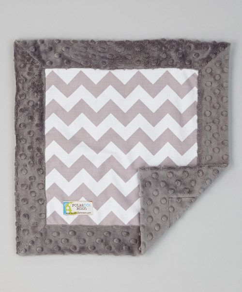 Take a look at the Gray Zigzag Security Blanket on #zulily today!