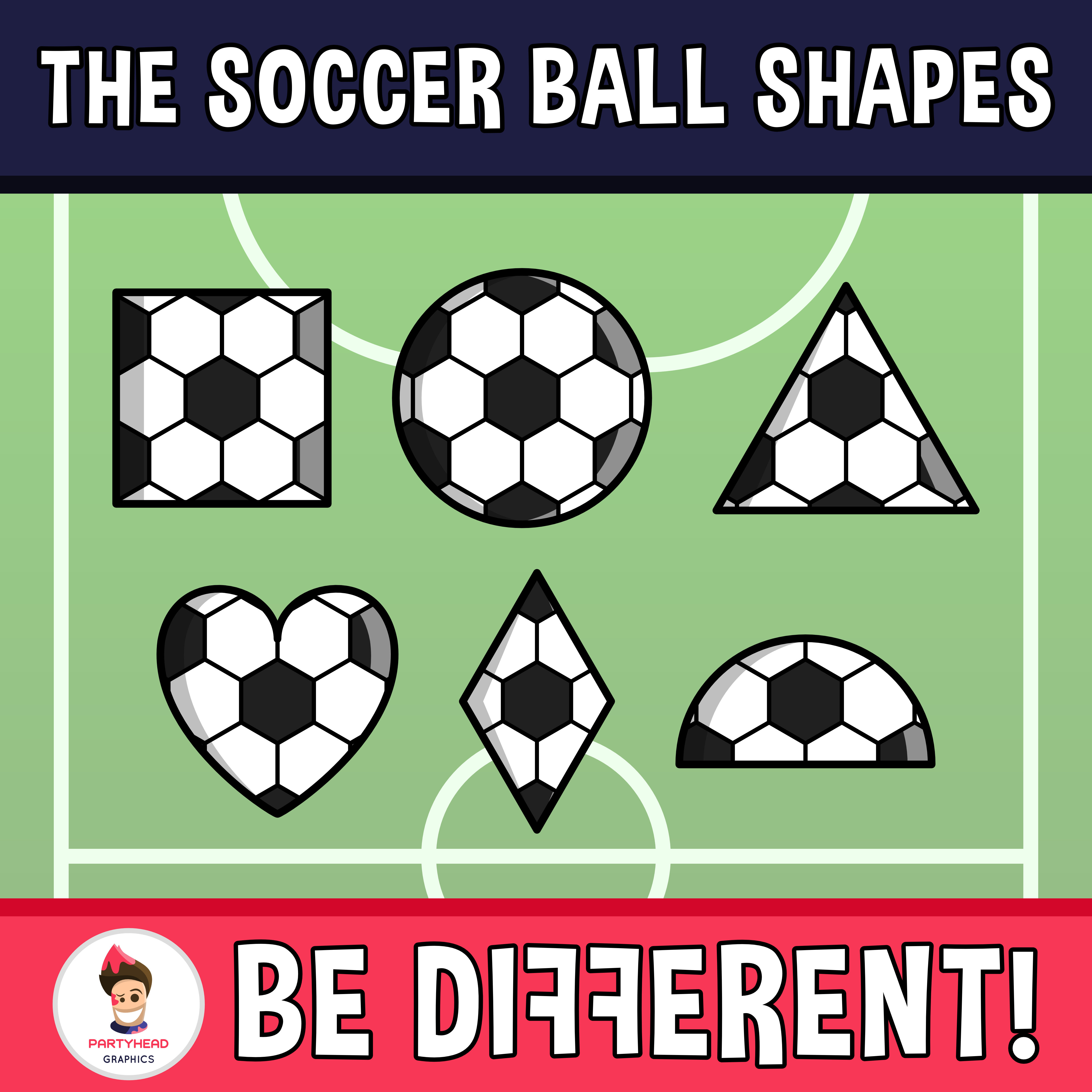 Soccer Ball Shapes Clipart Con Imagenes