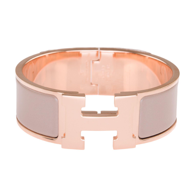 14c346a3f34 Hermes Marron Glace Enamel H Clic Clac H Wide Enamel Bracelet PM ...